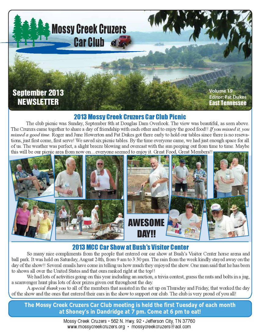 2013 Newsletter Page 1