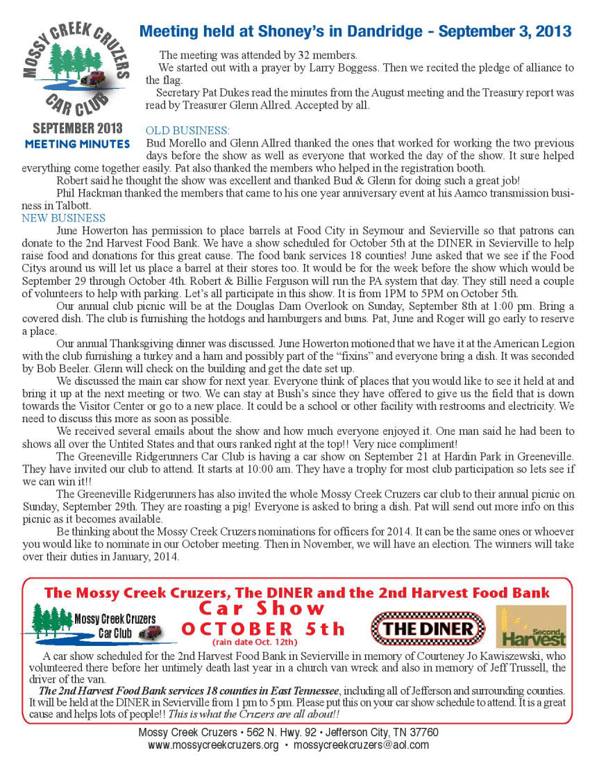 2013 Newsletter Page 2