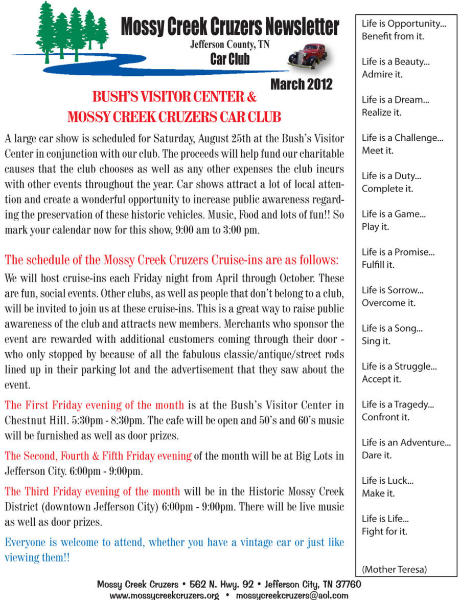 March 2012 Newsletter Page 3
