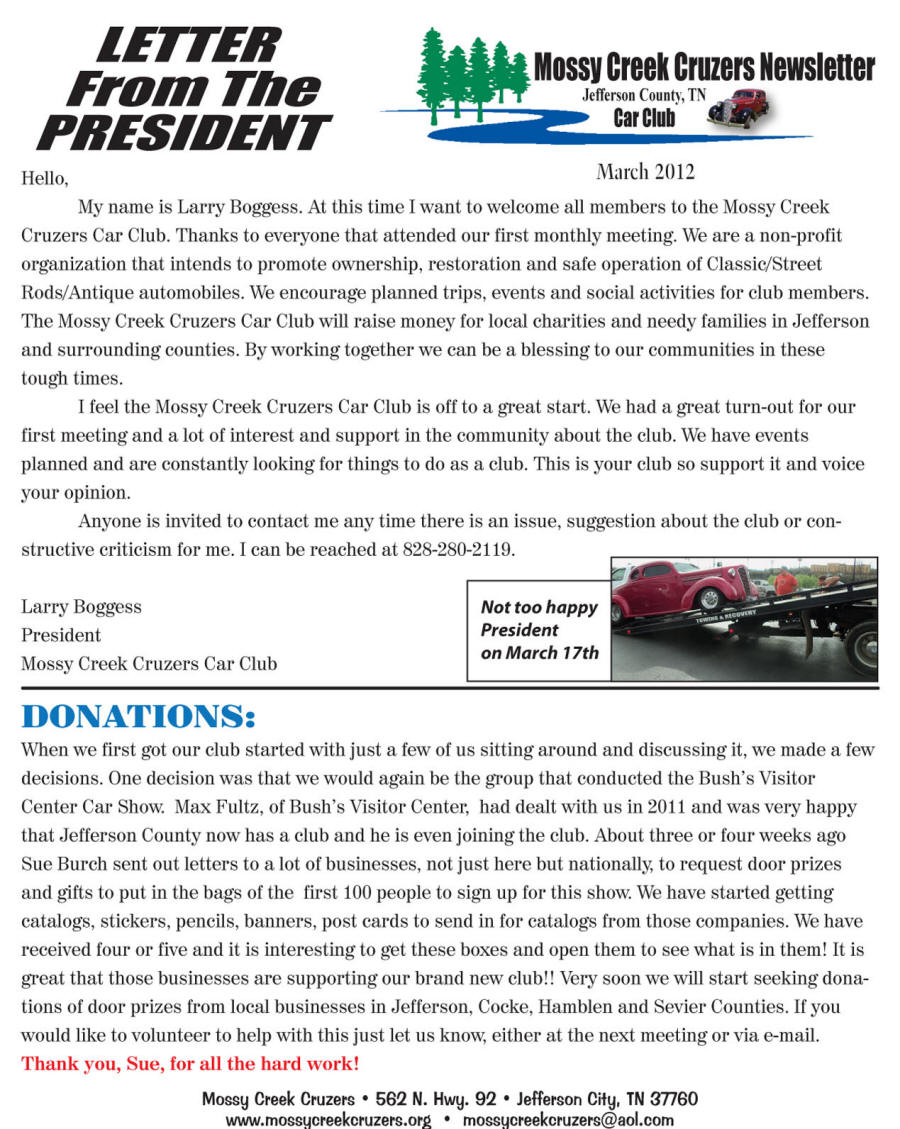 March 2012 Newsletter Page 4