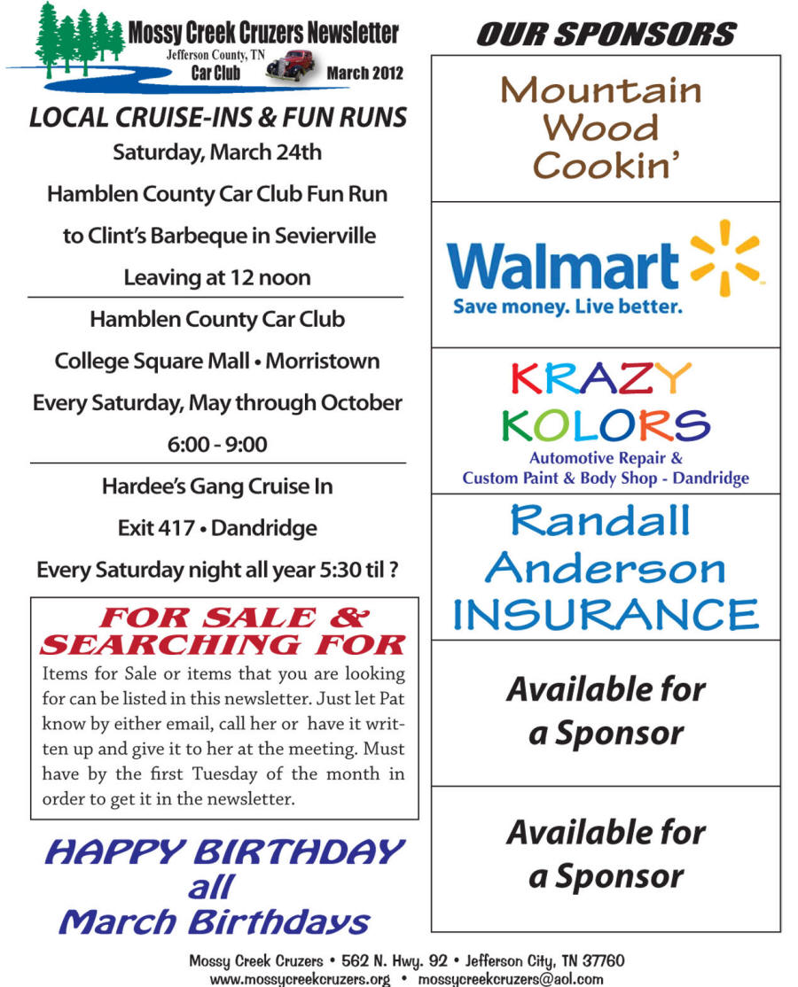 March 2012 Newsletter Page 5