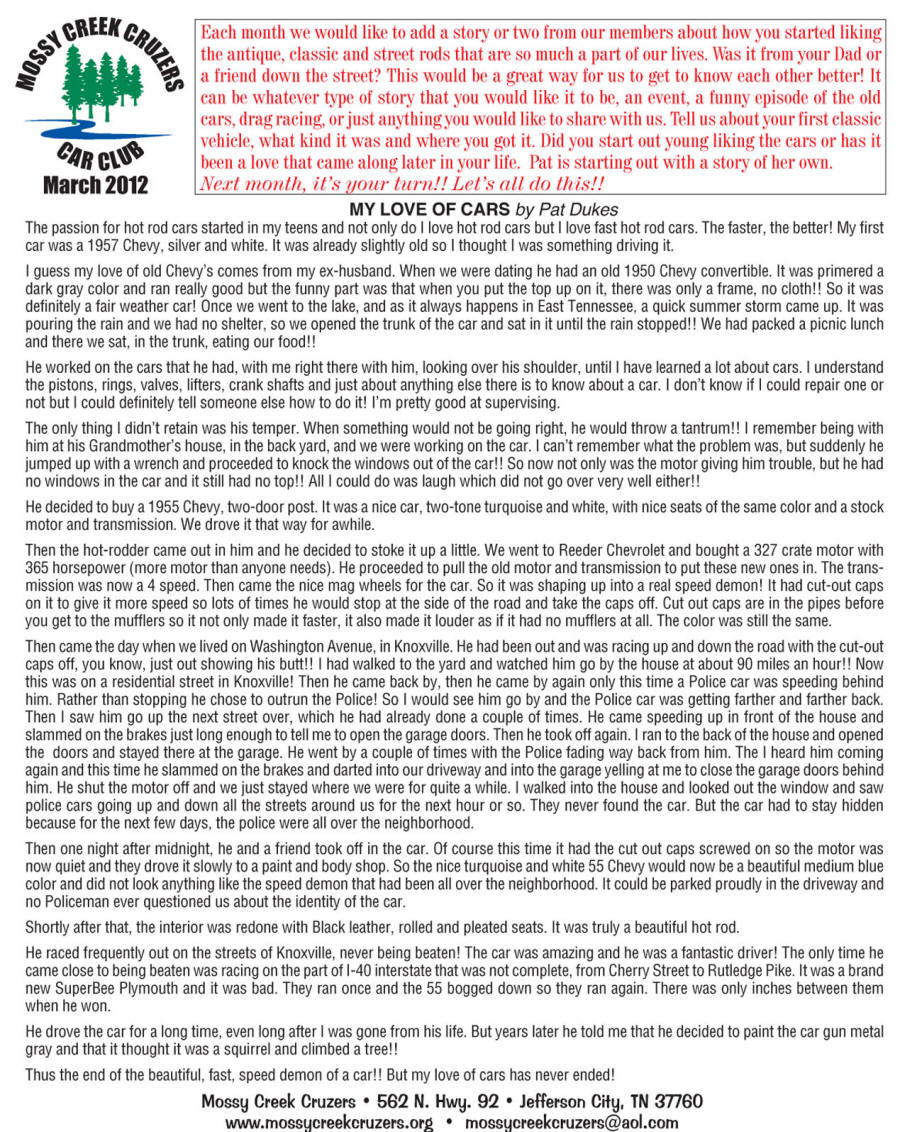 March 2012 Newsletter Page 6