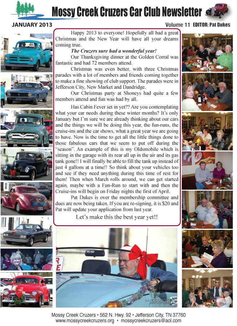 January 2013 Newsletter Page 1