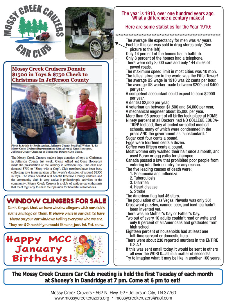 January 2013 Newsletter Page 3