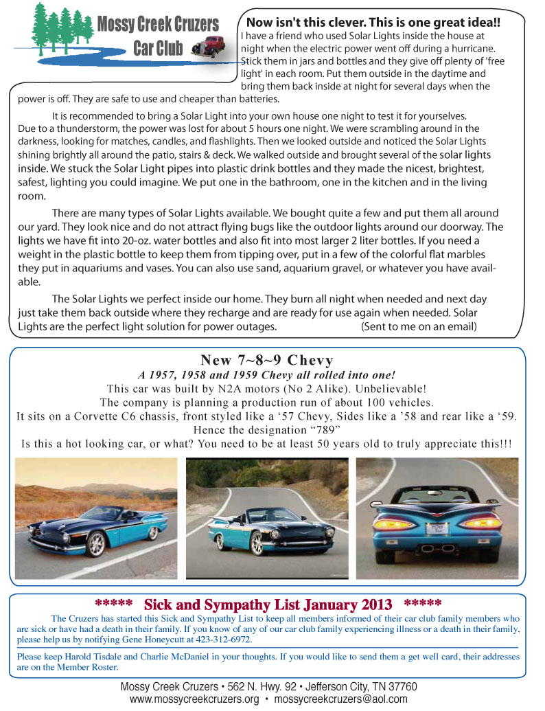 January 2013 Newsletter Page 4