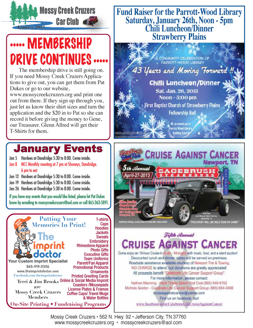 January 2013 Newsletter Page 5
