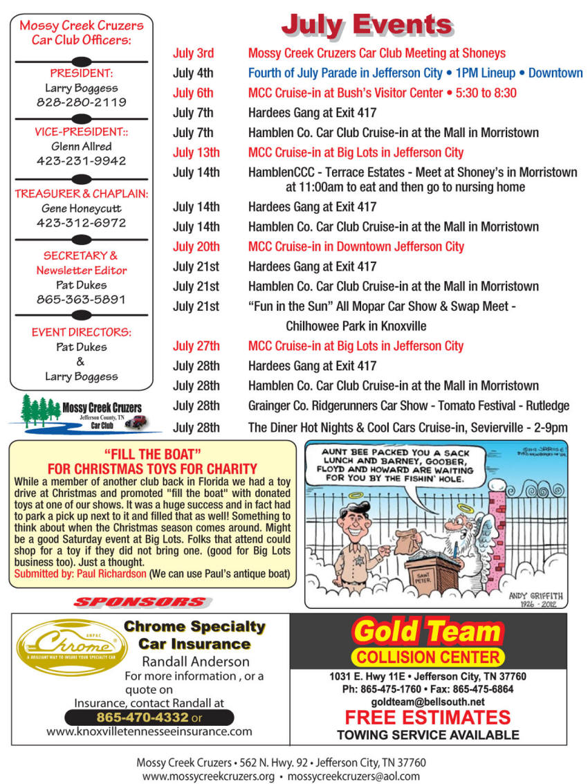 July 2012 Newsletter Page 3