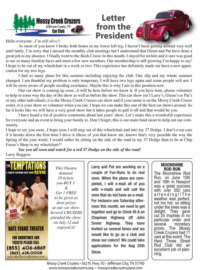July 2012 Newsletter Page 4