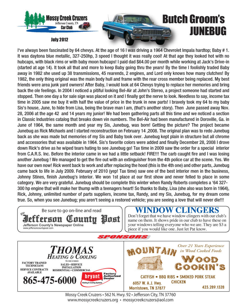 July 2012 Newsletter Page 5