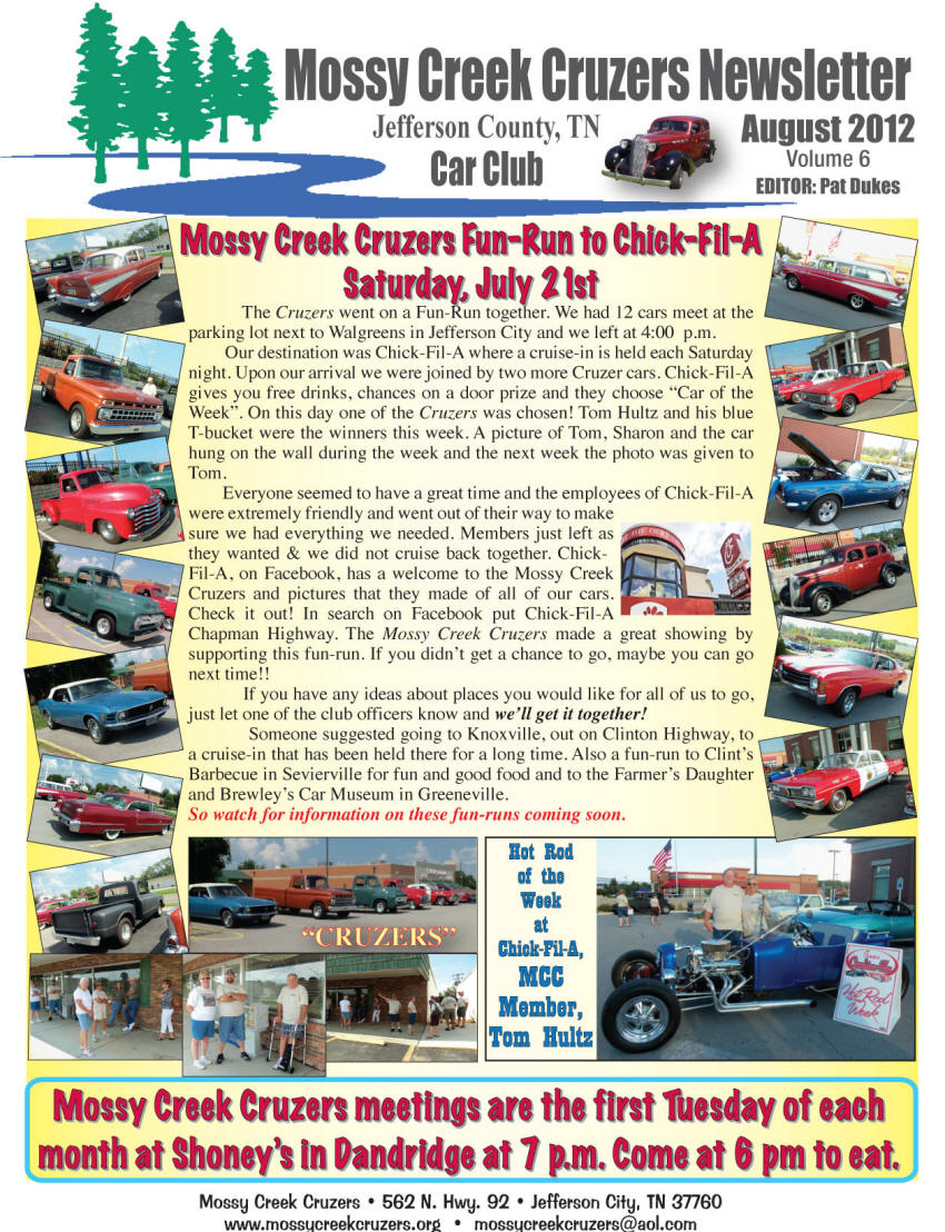 August 2012 Newsletter Page 1