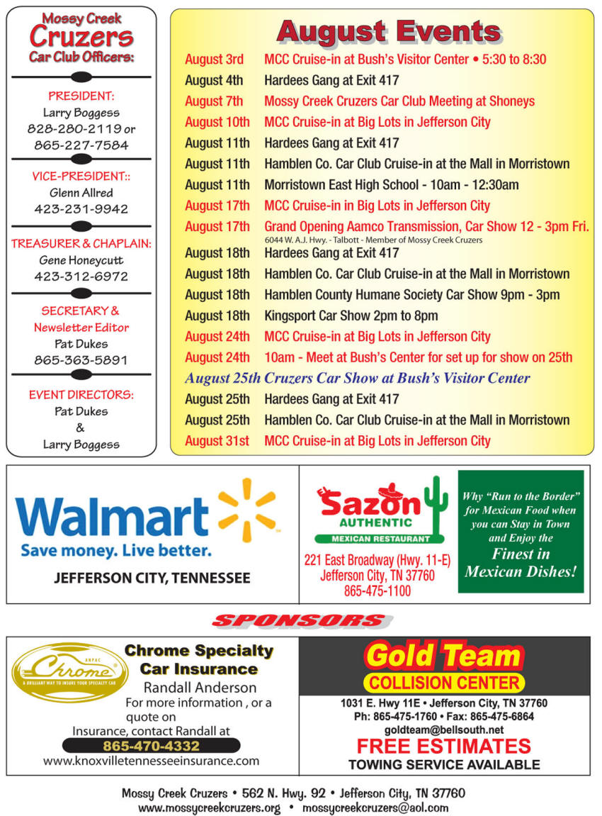 August 2012 Newsletter Page 3