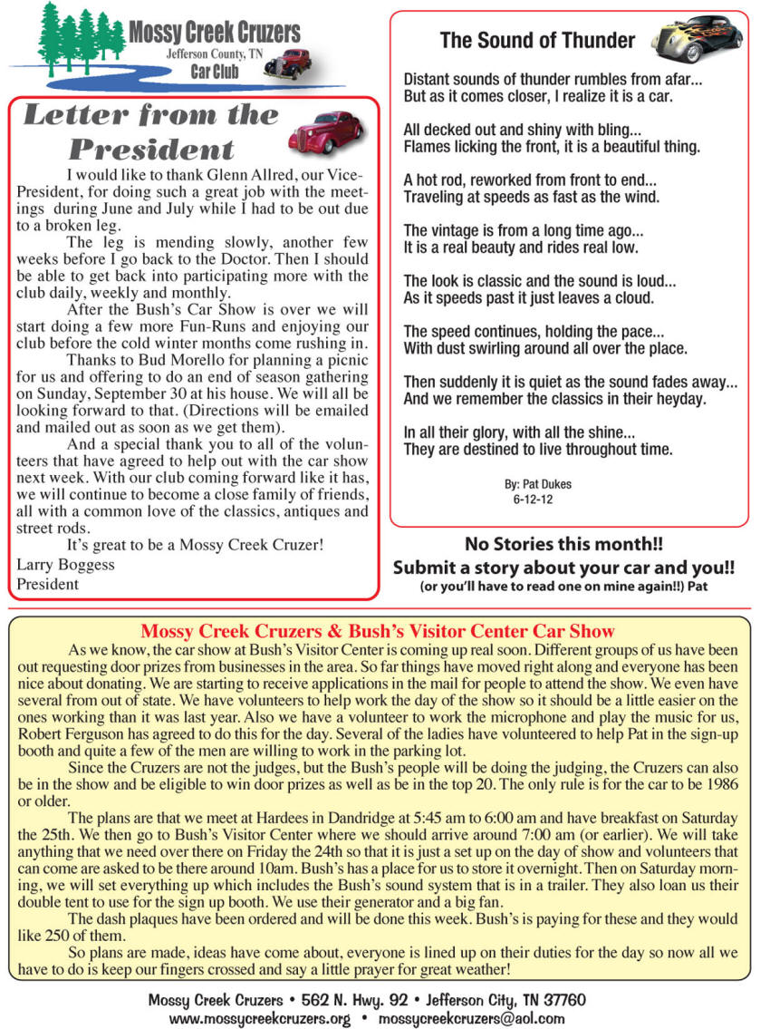 August 2012 Newsletter Page 4