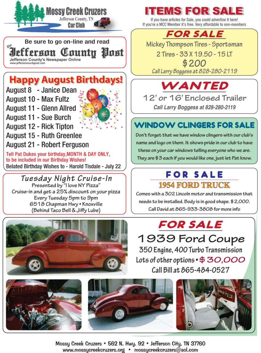 August 2012 Newsletter Page 6