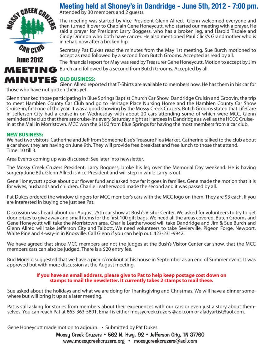 June 2012 Newsletter Page 3
