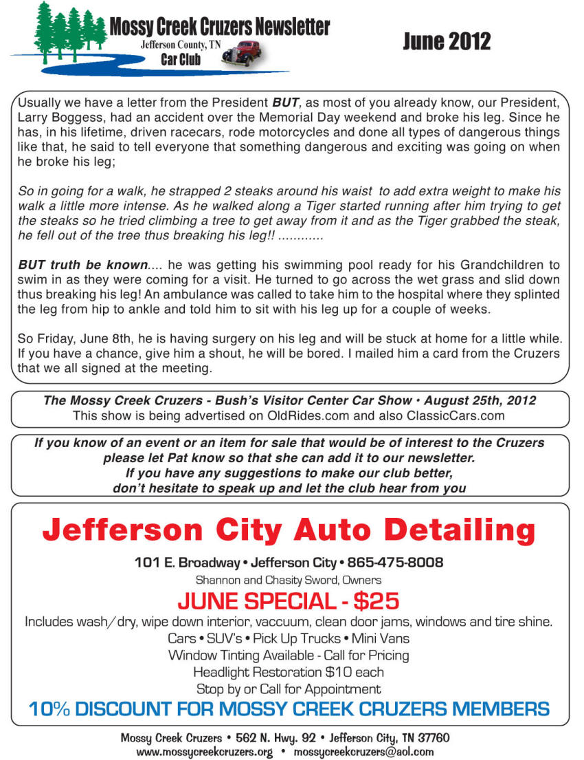 June 2012 Newsletter Page 9