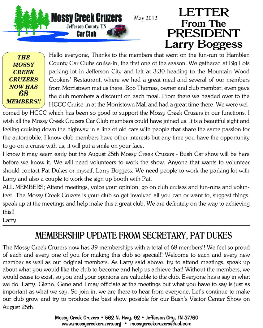 May 2012 Newsletter Page 3