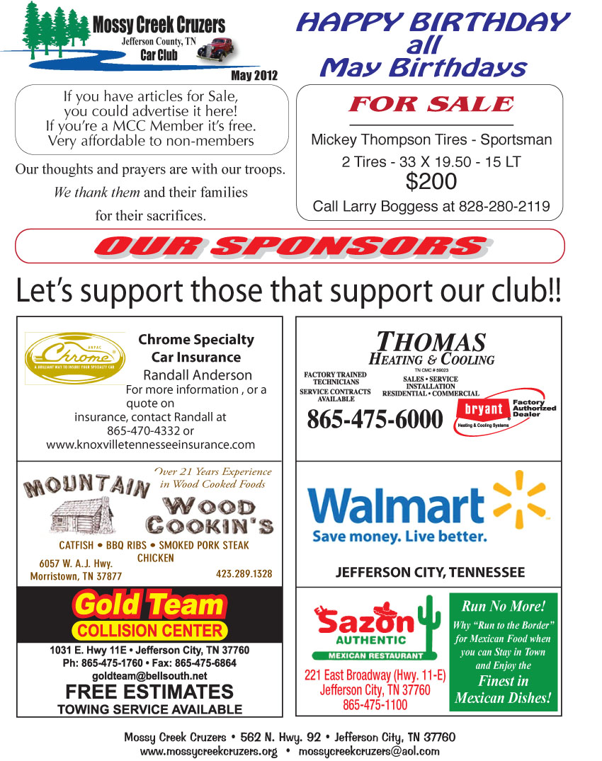 May 2012 Newsletter Page 6