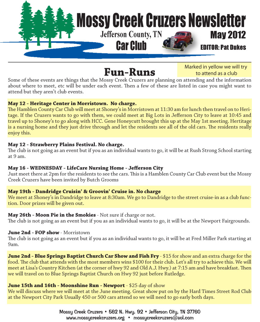 May 2012 Newsletter Page 8