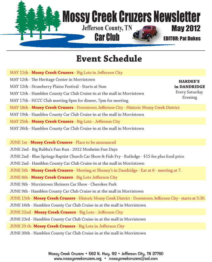 May 2012 Newsletter Page 9