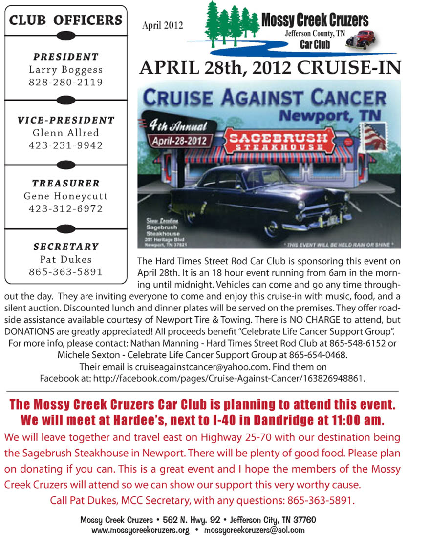 April 2012 Newsletter Page 4