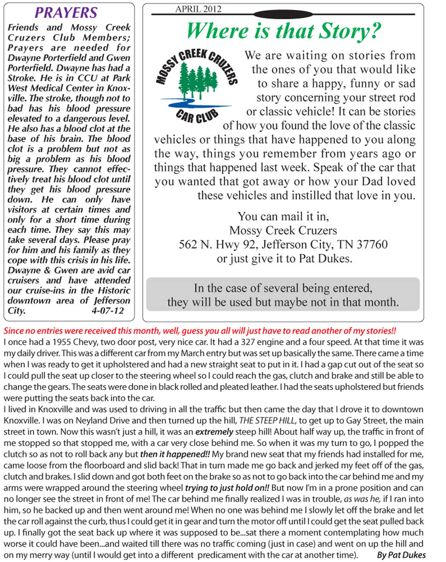 April 2012 Newsletter Page 7